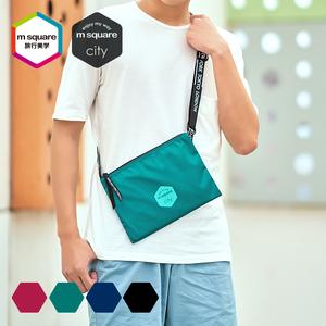 旅行三层斜挎杂物包女便携手机数码收纳包男配件单肩小包整理袋