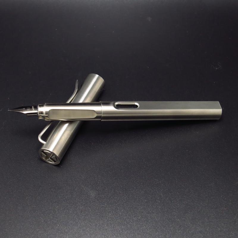 钛合金钢笔签字笔两用凌美lamy纯钛钢笔EF尖商务办公学生礼品