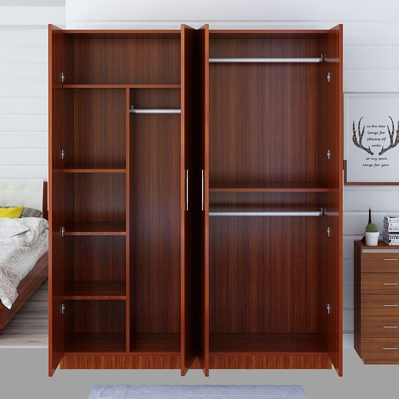 (用175元券)简易衣柜家用简约现代租房经济型组装实木质板式儿童衣橱子省空间