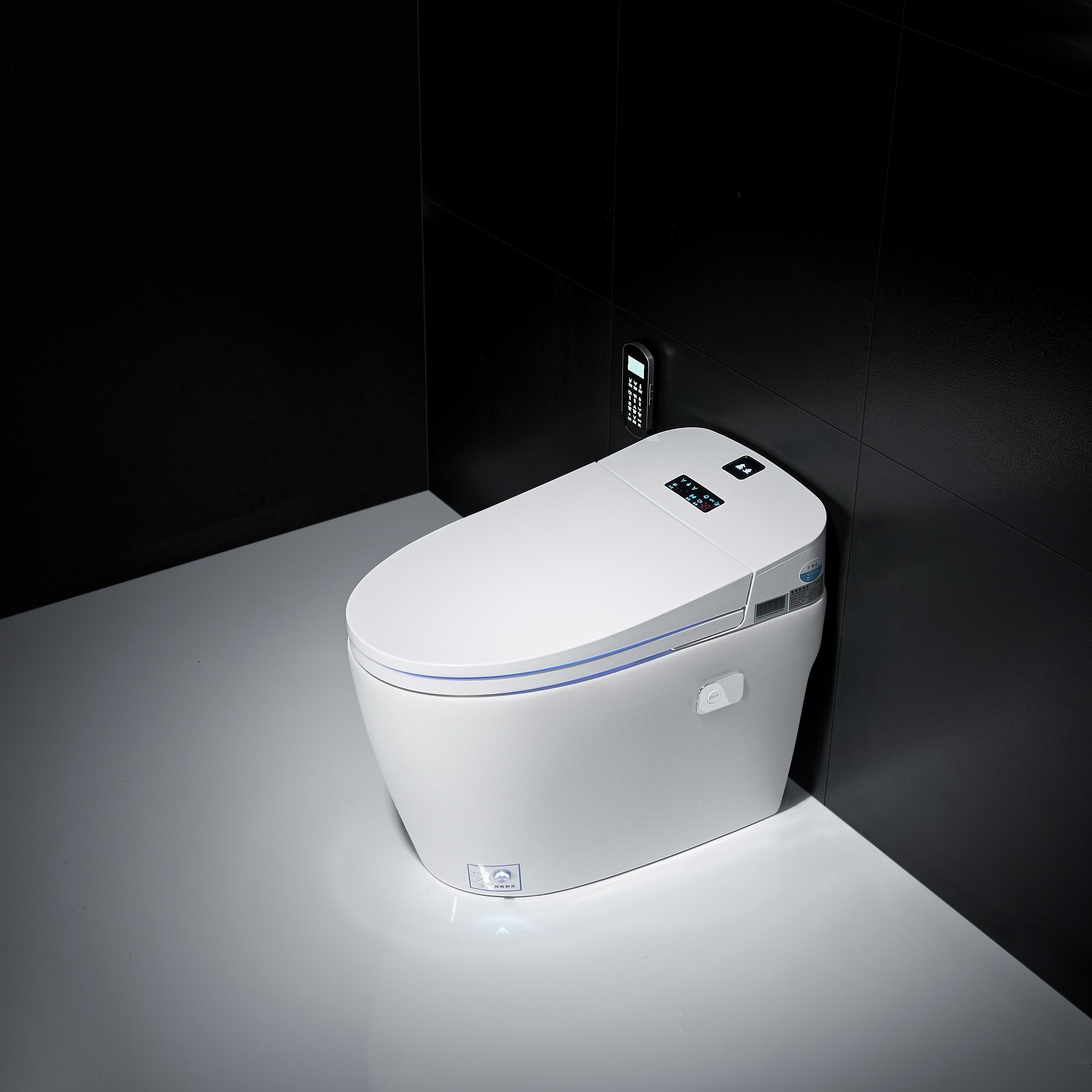 2600.00元包邮110V智能脚感翻盖合盖手势妇洗自动烘干自动冲洗马桶全智能坐便器