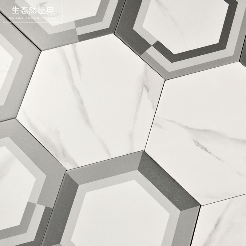 Нордический простой белый джаз мрамор шестиугольник кирпич керамическая плитка 260x300 кухня ванная комната стена скольжение кирпич