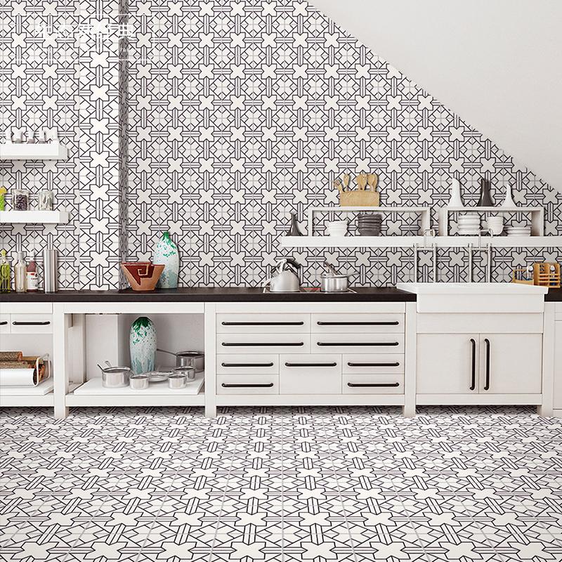Черно - белый цветок кирпич простой нордический отлично прекрасный линия фарфор фон кирпич кухня стена кирпич черно-белое штейн скольжение 200