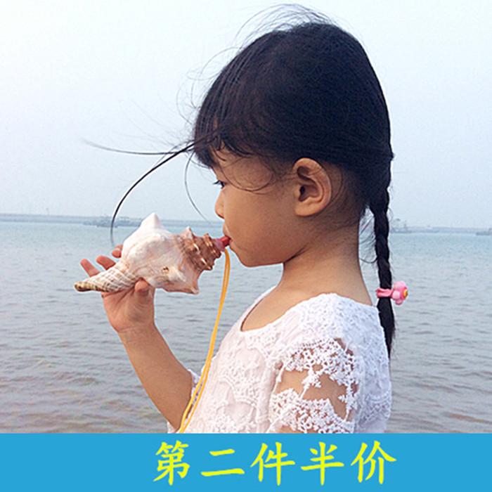 天然大贝壳海螺工艺品创意礼品摄影道具可以吹响的海螺号角海螺哨