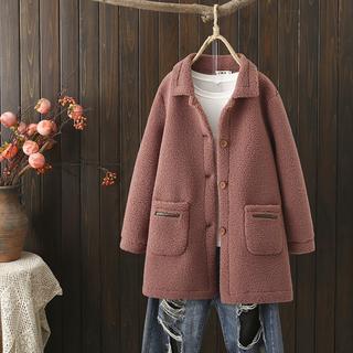 秋冬装大码女装2021胖mm宽松外搭皮毛一体绒大衣女中长款显瘦外套