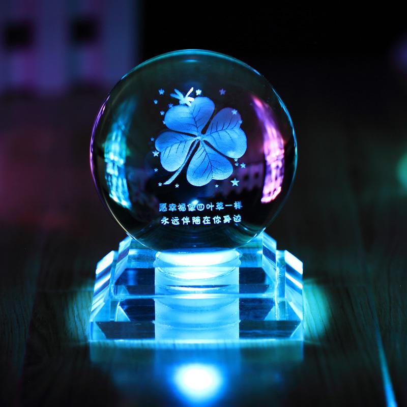 十二星座水晶球发光创意生日礼物情人节礼品男生送女朋友同学闺蜜