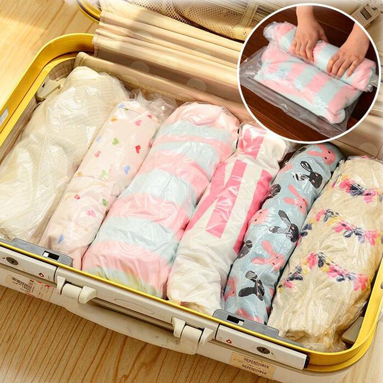旅行特大号真空压缩袋衣物被子收纳袋整理袋手卷空气袋食品袋包邮