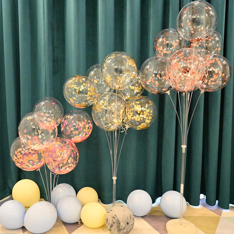 浪漫创意结婚婚礼布置生日宝宝求婚气球野餐用品网红桌飘儿童图片