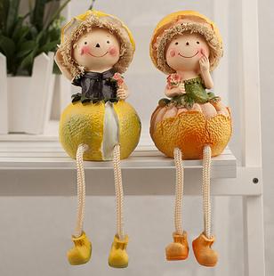 推荐儿童节礼物春色满园蔬菜水果吊脚情侣娃娃田园风家居摆件装饰