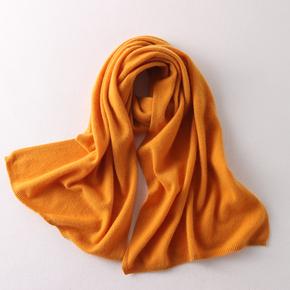 阿拉善纯山羊绒围巾女纯羊绒男女通用围脖纯色大围巾长款披肩情侣