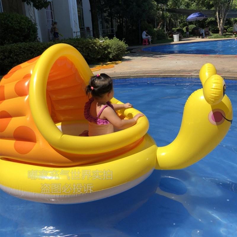 网红游泳漂浮气船多人游泳圈浮床