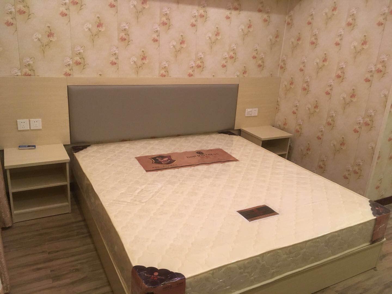 Manufacturer direct sales express hotel furniture bed standard room full set hotel room rental room hotel bedside table customization