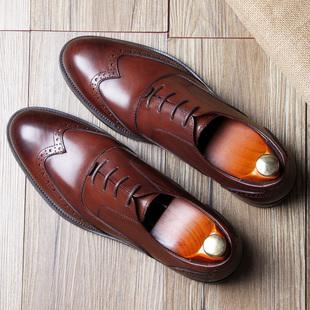 英伦布洛克雕花皮鞋 巴洛克男皮鞋 伴郎皮鞋 男真皮西装 牛津鞋 男鞋