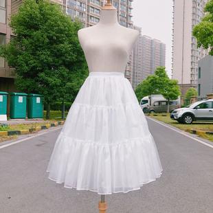 洛丽塔日常撑汉服裙撑衬裙延长撑cos lolita无骨软纱中长款 裙撑
