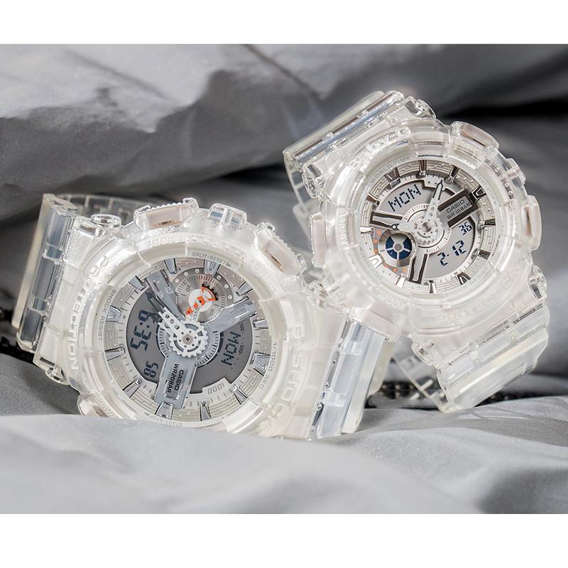 现货卡西欧情侣手表 透明大表盘BA-110CR-7A/GA-110CR-7A电子表,可领取元淘宝优惠券