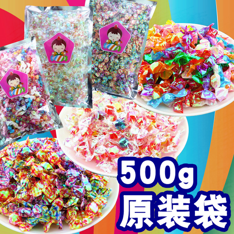 Net red colorful thousand paper crane candy creative bulk fruit mixed flavor hard candy small sour candy snack batch