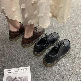 英伦风chic小皮鞋女2020新款ins百搭森女日系学院风原宿软妹鞋子