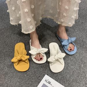 2021新款韩版平底外穿拖鞋女夏旅游时尚防滑沙滩鞋平底可湿水凉拖
