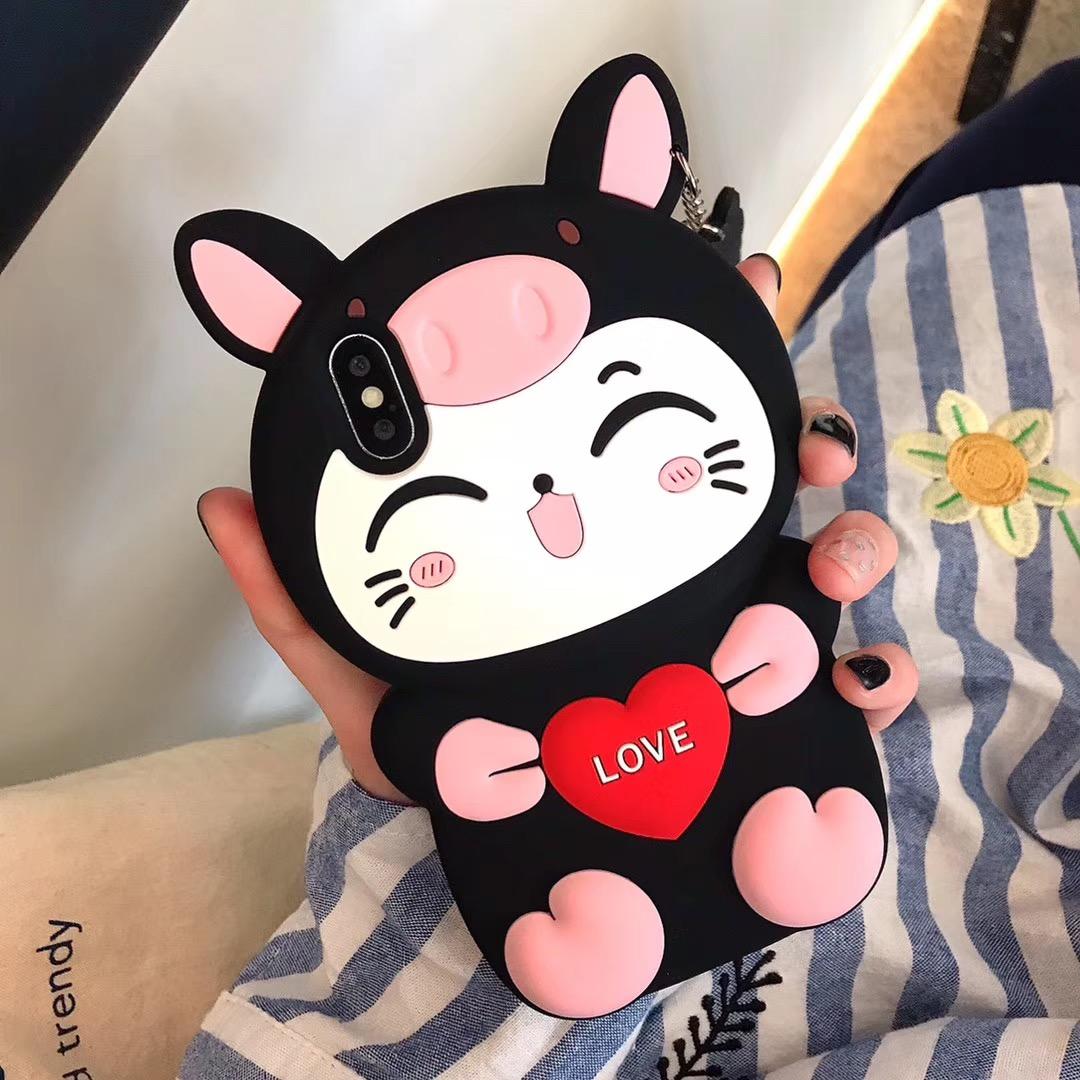 10月28日最新优惠oppor17卡通可爱猫咪防摔套手机壳