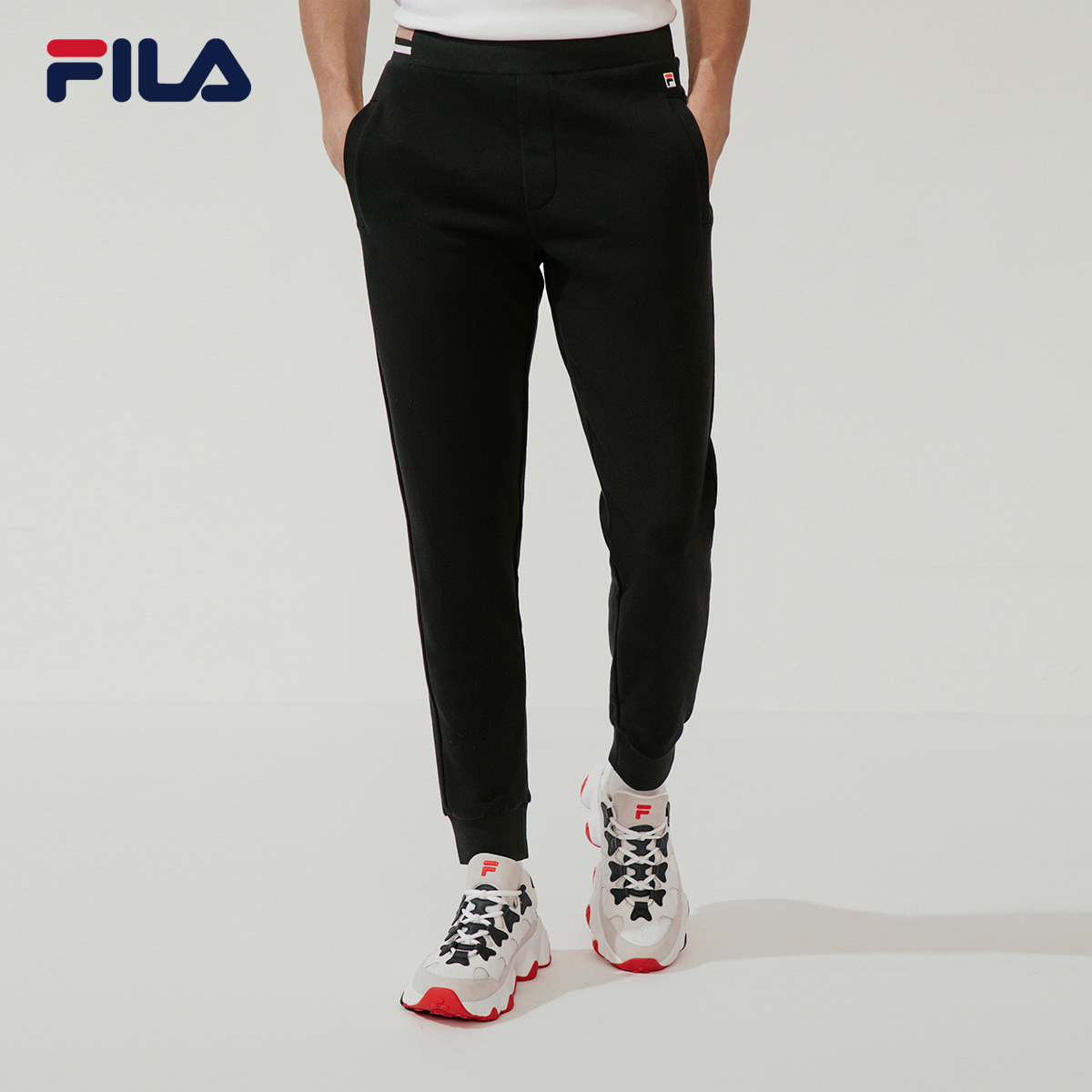 FILA FILA official trousers men's knitting 2020 spring new straight casual pants closing sports pants men