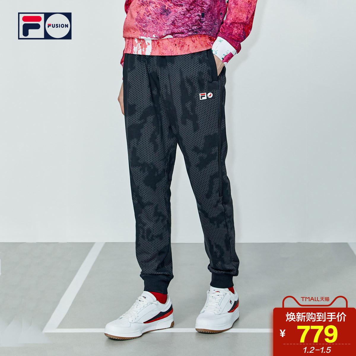 FILA FUSION X Staple斐乐长裤男2019春季新品休闲运动裤针织长裤