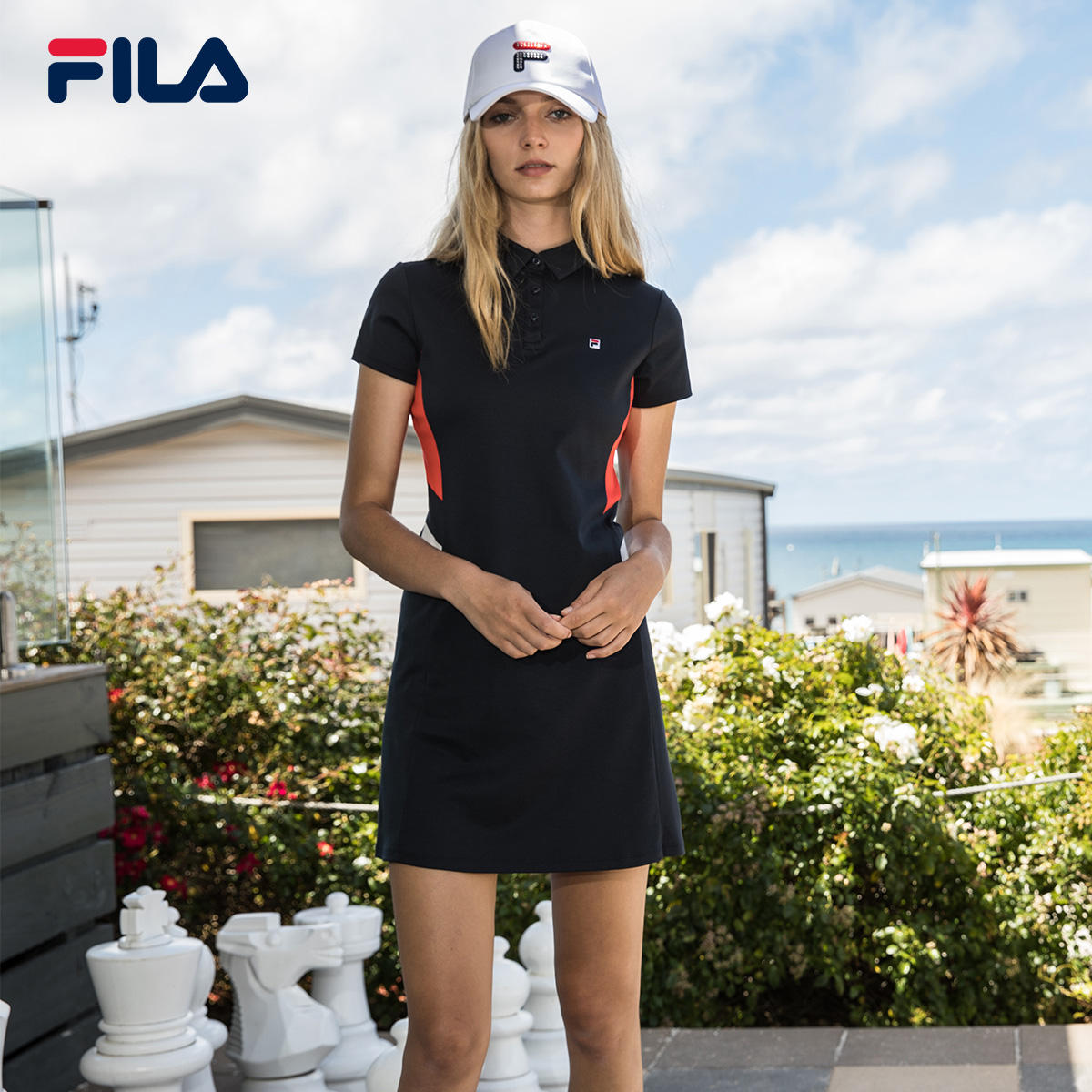 Женское спортивное платье FILA Fila 2018 Summer новая коллекция популярный для отдыха Спортивная женская одежда