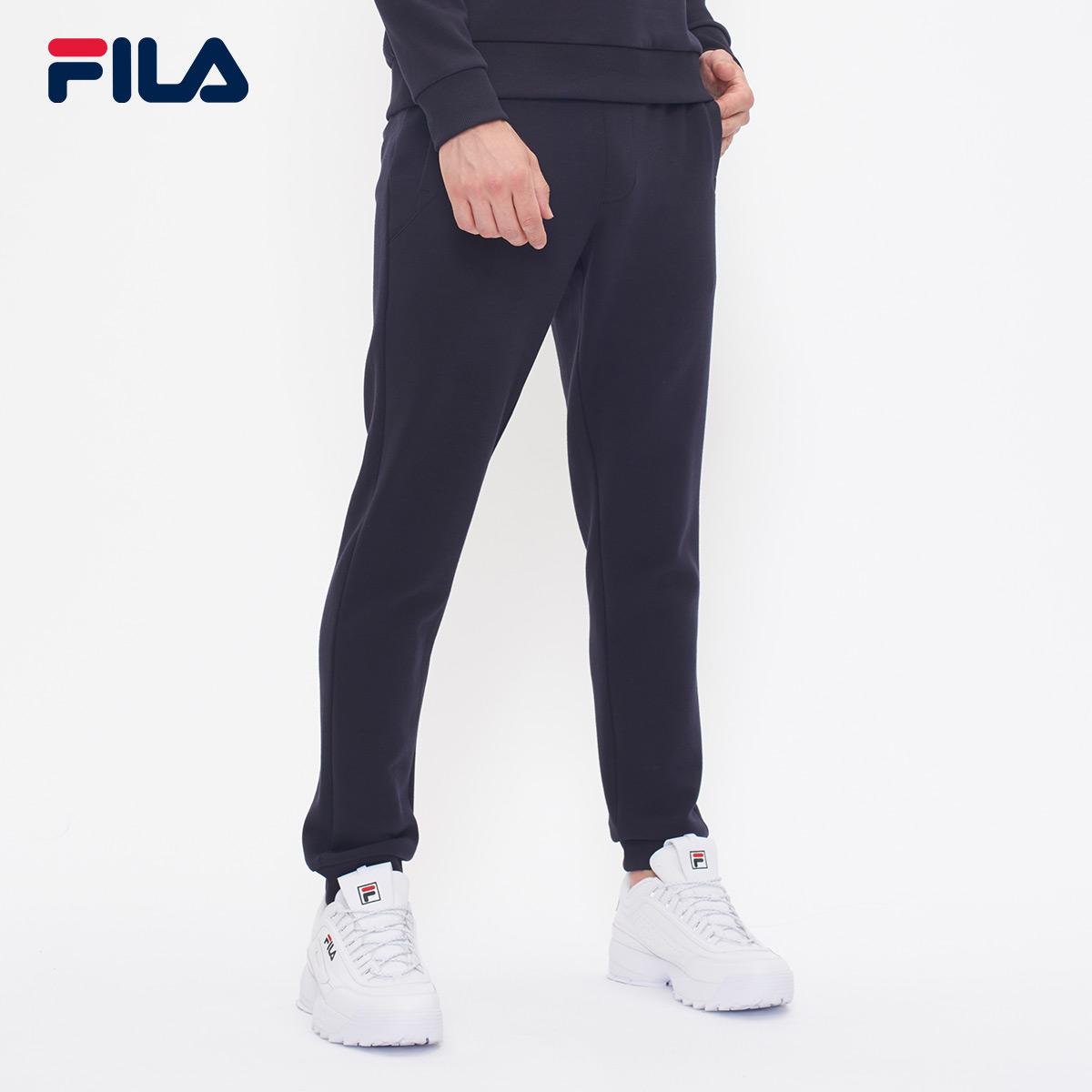 FILA斐乐运动裤男裤2018秋季新品针织透气运动休闲束口裤男长裤