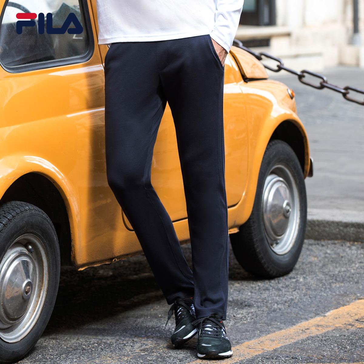 FILA斐乐男针织长裤2018秋季新款时尚休闲简约易搭运动长裤男