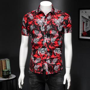 2021花衬衫大码衬衣沙滩衬衫短袖2016P32 M-7XL码假模图,男装衬衫,钱塘716