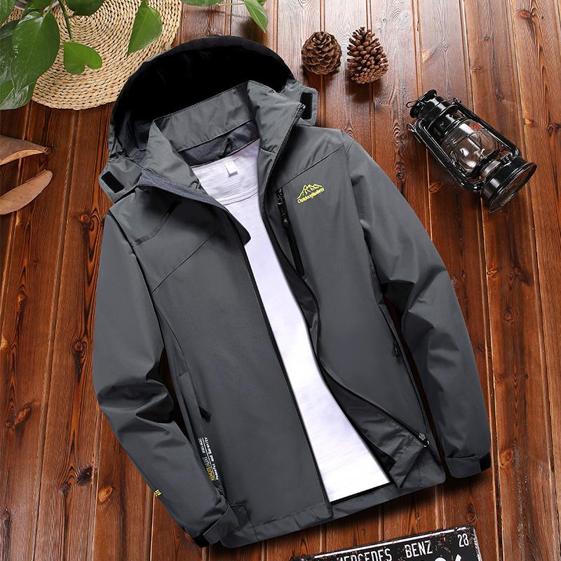Middle aged mens jacket autumn 2019 new style assault suit dads autumn winter sports windbreaker Plush coat