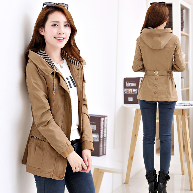 Spring womens windbreaker jacket spring 2020 new style short top fashionable slim coat