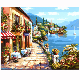diy数字油画风景欧式有框40*50手绘填色大幅卧室客厅 装饰画包邮