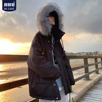 棉衣潮牌男冬季羽绒棉服韩版潮流大码2021年新款棉袄胖子宽松外套