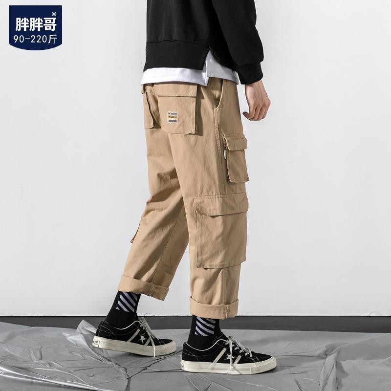 秋季新款男士加肥宽松直筒裤休闲裤78.00元包邮