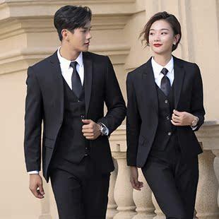 男女同款职业装商务西装套装银行公务员面试正装4S店销售楼工作服