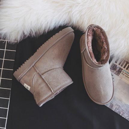 雪地靴女2018新款冬季短筒韩版百搭学生厚底棉鞋女加绒加厚短靴子