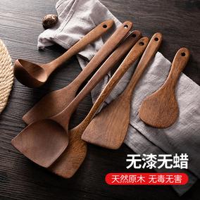 鸡翅木锅铲家用不粘锅耐高温汤勺