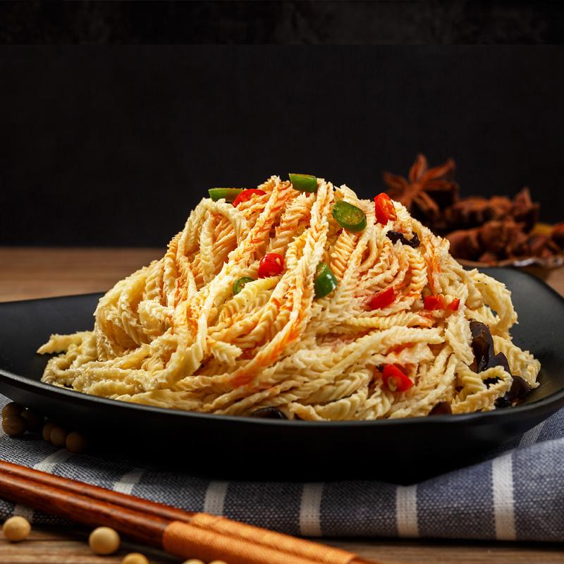 豆腐丝2斤云丝豆腐皮干货特产农家油豆皮豆制品人造肉腐竹凉拌菜