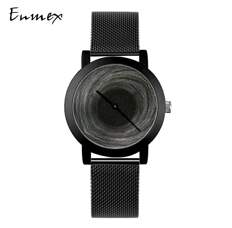 Enmex fresh temperament design black hole concept watch temperament creative womens Watch