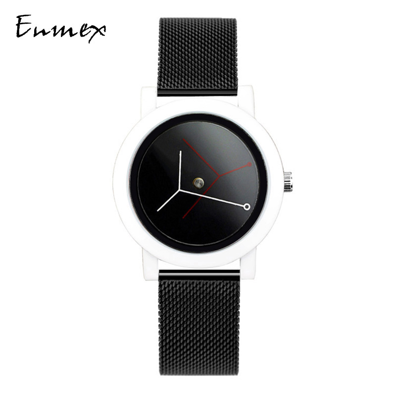 Enmex creative design branch concept watch simple chic two pin Watch