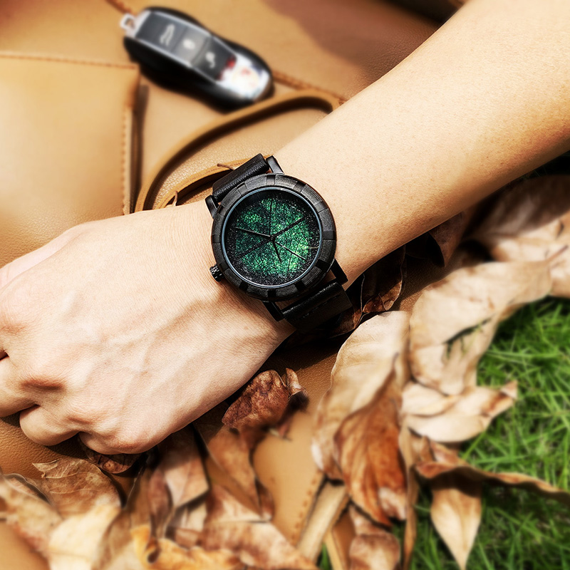 Holiday gift enmex creative design black hole concept mysterious mens watch waterproof watch