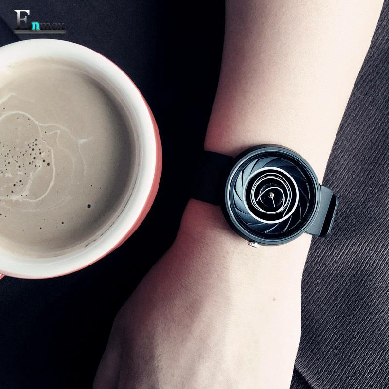 节日礼物 译时Enmex设计师款 创意手表 旋风概念款线圈炫酷腕表