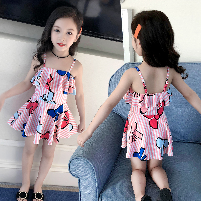 Children's Swimming Suit Girls Swimming Suit Conjoined Princess Skirt Baby Swimming Suit Lovely Girls Swimming Suit Young Children