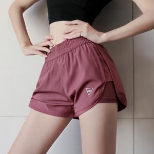 运动短裤女宽松休闲百搭夏季速干跑步健身裤防走光高腰舞蹈瑜伽裤