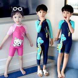 佑游男童连体小中大童长短袖游泳裤