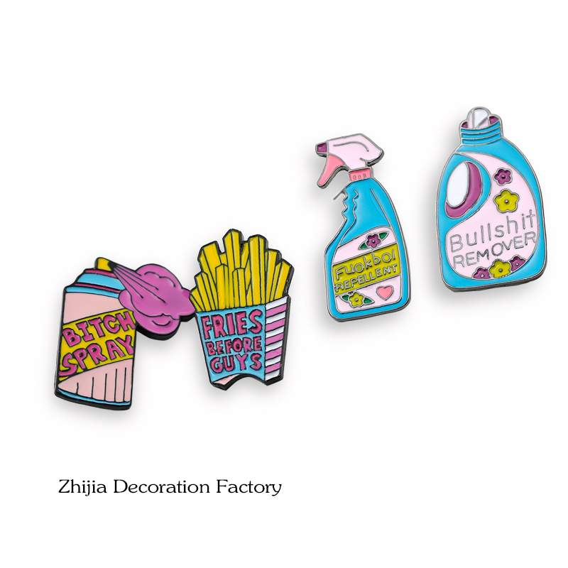 Creative detergent French fries Brooch small fresh badge dress accessories ins net red student versatile decoration