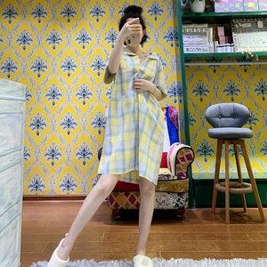 2028507已核实新品女大人睡裙短袖