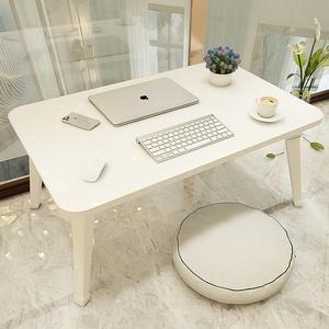 床上小桌子卧室坐地学生可折叠宿舍小桌板放书桌可爱ins地毯电脑