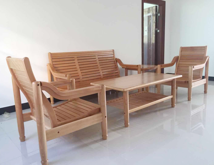 Special price package, postal package installation, large promotion, imported beech sofa, small house solid wood sofa factory direct sales authentic product