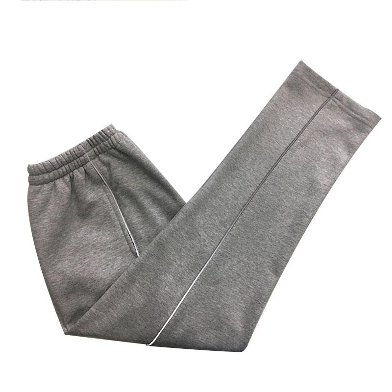 定制夏季超薄款纯棉学生灰色加反光细条运动裤直筒校服宽松男女裤券后37.00元