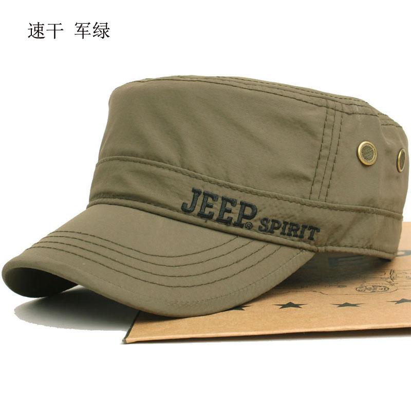 正品jeep速干男休闲户外男平顶帽子